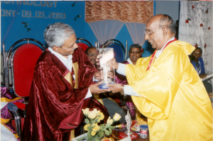 Releasing the Souvenir as Guest of Honour during the International Conference in 2004